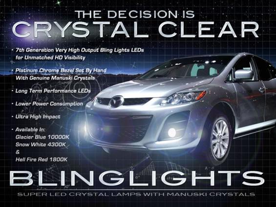 2010 2011 Mazda Cx7 Led 4300k Fog Lights Lamps Cx 7 Ebay