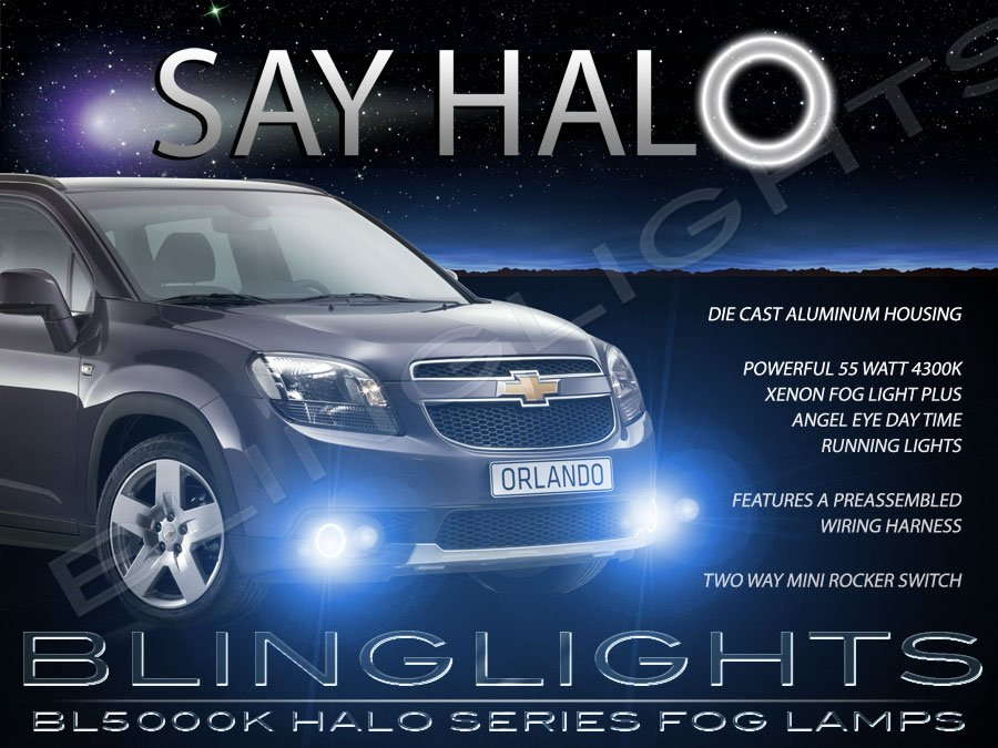 Details about 2010-2014 Chevrolet Chevy Orlando Blue Halo Fog Lamps