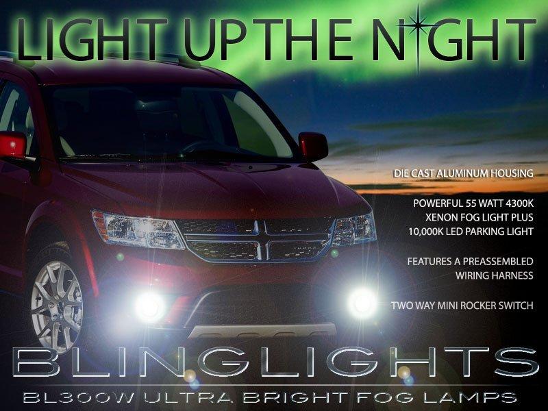 2011 2012 2013 2014 Dodge Avenger Xenon Halogen Fog Lamps Driving Lights Kit Set