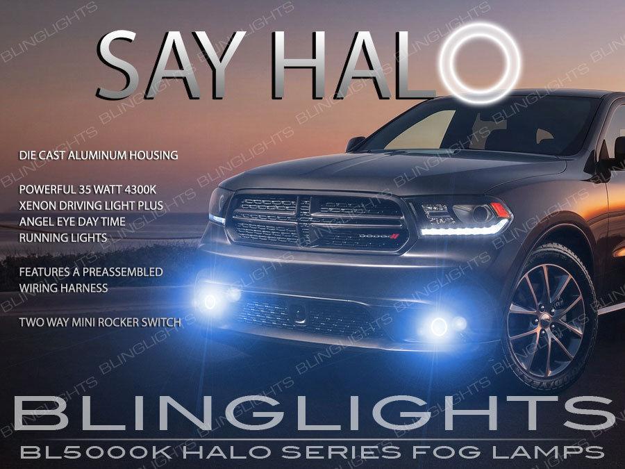 2014-2017 Dodge Durango Halo Fog Lamps Angel Eye Bumper Driving ...