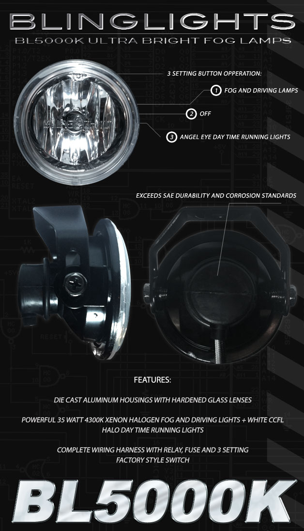 bl5000k 3inch2 2014 2015 chevy camaro halo fog lamps angle eye driving lights ss 2010 Camaro OEM Fog Lights at bayanpartner.co